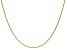14k Yellow Gold 1mm Cable Chain 16 Inches