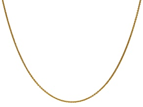 14k Yellow Gold 1mm Cable Chain 24 Inches