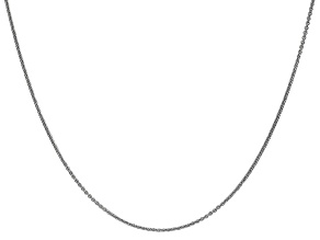14k White Gold 1mm Cable Chain 16 Inches