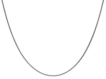 Picture of 14k White Gold 1mm Cable Chain 18 Inches