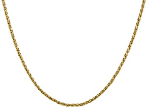 14k Yellow Gold 2.25mm Parisian Wheat Chain 24 Inches