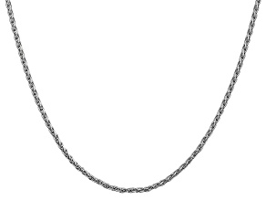 14k White Gold 2.25mm Parisian Wheat Chain 24 Inches