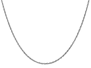 14k White Gold 1.3mm Heavy-Baby Rope Chain 18 Inches