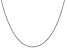 14k White Gold 1.3mm Heavy-Baby Rope Chain 24 Inches