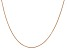 14k Rose Gold 0.70mm Box Link Chain 16 Inches