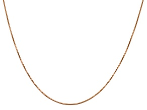 14k Rose Gold 0.70mm Box Link Chain 24 Inches