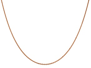 14k Rose Gold 1.4mm Diamond Cut Cable Chain
