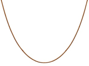 14k Rose Gold 0.9mm Box Link Chain