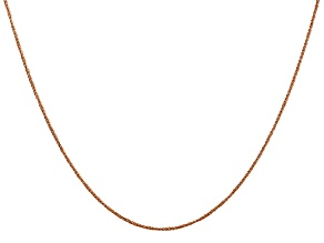 14K Rose Gold 0.7mm Rope Chain