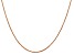 14K Rose Gold 1.1mm Rope Chain