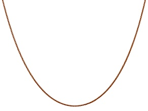 14k Diamond Cut Rose Gold 1.00mm Spiga Chain