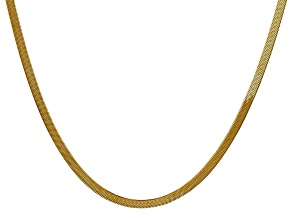 14k Yellow Gold 3.0mm Silky Herringbone Chain