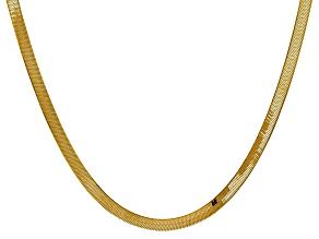 14k Yellow Gold 4.0mm Silky Herringbone Chain