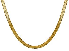 14k Yellow Gold 5.0mm Silky Herringbone Chain