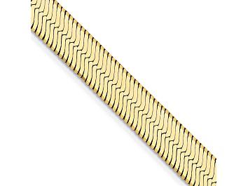 Picture of 14k Yellow Gold 6.5mm Silky Herringbone Chain