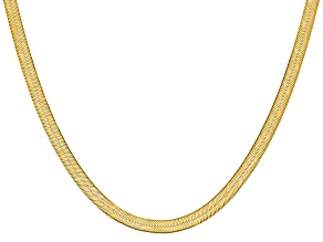 14k Yellow Gold 6.5mm Silky Herringbone Chain