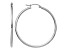 14K White Gold Polished 2mm Lightweight Hoop Earrings