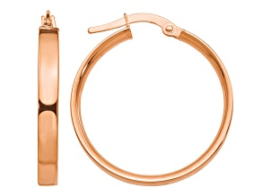 14k Rose Gold 3mm XL Hoop Earrings