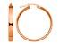 14k Rose Gold 3mm XL Hoop Earrings