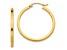 14k Yellow Gold 2mm Square Tube Hoop Earrings