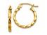 14k Yellow Gold Twist Polished Hoop Earring