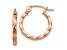 14k Rose Gold Twisted Hoop Earrings