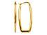 14k Yellow Gold Polished 2.25mm Rectangle Hoop Earrings