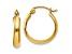 14k Yellow Gold Polished 3.5mm Hoop Earrings