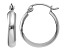 14k White Gold Polished 3.5mm Hoop Earrings