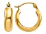 14k Yellow Gold Polished 4.75mm Round Hoop Earrings
