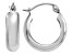 14k White Gold 4mm Round Hoop Earrings