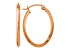 14k Rose Gold Polished Oval Tube Earrings