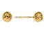 14k Yellow Gold 6mm Diamond-Cut Ball Post Earrings