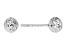 14k White Gold Diamond-cut 6mm Ball Post Earrings
