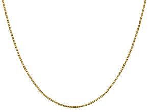 14k Yellow Gold 1.1mm Box Chain 30