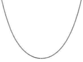 14k White Gold 1.1mm Box Chain 18