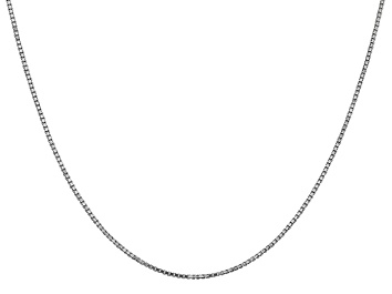 """Picture of 14k White Gold 1.1mm Box Chain 20"""""""