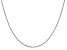 14k White Gold 1.1mm Box Chain 30