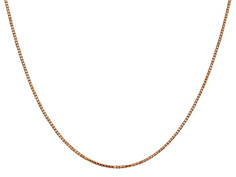 14k Rose Gold 1.1mm Box Link Chain 18