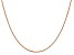 14k Rose Gold 1.1mm Box Link Chain 20