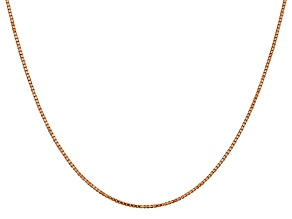 14k Rose Gold 1.1mm Box Link Chain 24""