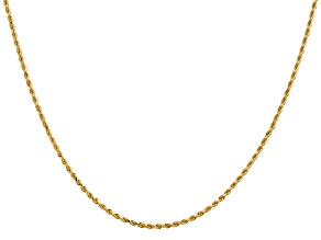 14k Yellow Gold 1.50mm Diamond Cut Rope with Lobster Clasp Chain 24