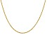 14k Yellow Gold 1.50mm Diamond Cut Rope with Lobster Clasp Chain 24""