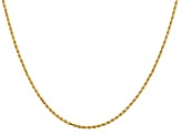 14k Yellow Gold 1.50mm Diamond Cut Rope with Lobster Clasp Chain 30""