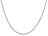 14k White Gold 1.5mm Diamond Cut Rope Chain 20""