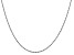 14k White Gold 1.5mm Diamond Cut Rope Chain 24""