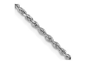 "14k White Gold 1.5mm Diamond Cut Rope Chain 26"""