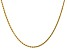 """14k Yellow Gold 1.75mm Diamond Cut Rope with Lobster Clasp Chain 16"""""""