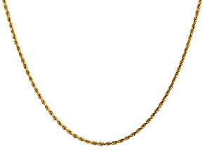 14k Yellow Gold 1.75mm Diamond Cut Rope with Lobster Clasp Chain 18""