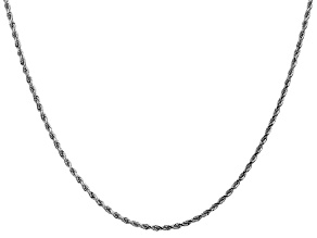 14k White Gold 1.75mm Diamond Cut Rope Chain 24""
